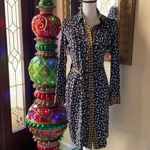 Diane von Furstenberg silk jersey wrap dress new